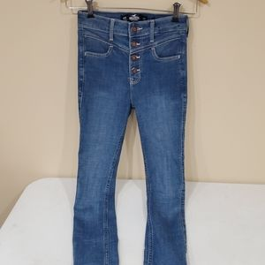 Hollister high-rise stretchy skinny 00 Button fly